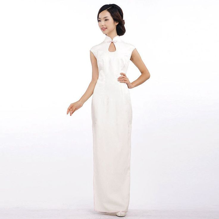 Elegant white retro style cheongsam evening gowns. Angels are Always There