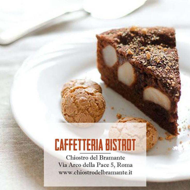 """Lasciatevi tentare dai nostri dolci! ;)  Oggi lo staff della Caffetteria Bistrot Chiostro Del Bramante propone:  """"Torta alle pere e cioccolato"""" >> Aperta tutti i giorni >> Via Arco della Pace 5, Roma"""
