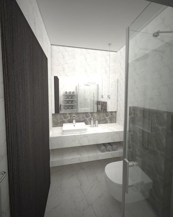 Projekt pokoju hotelowego z łazienką w Centrum Historii Polskich Żydów w Dynowie.