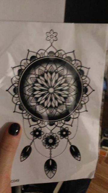 1 Pieza Indio árabe Falso Negro Temporal Pegatinas De Tatuajes Para