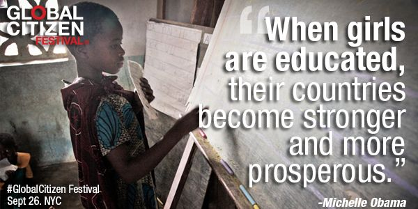 RT @StDaniel7: We must #FundEducation to #LetGirlsLearn & lead— come to #GlobalCitizen Festival & support education