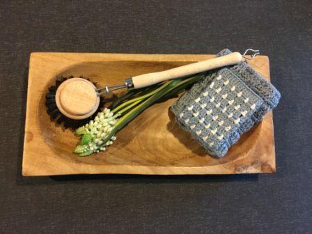 Hæklet Karklud i Blok mønster, gratis hækle opskrift, Hæklet karklud opskrift…
