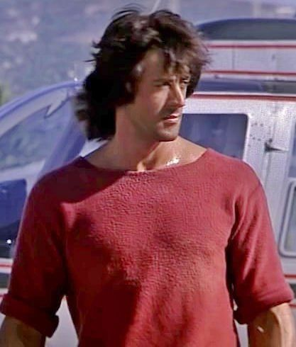 """Lot: 89056: A Sweatshirt from """"Rambo: First Blood Part II"""" (, Lot Number: 89056, Starting Bid: $160, Auctioneer: Heritage Auctions, Auction: December 18 - Stallone - The Auction - #7111, Date: December 19th, 2015 CET"""