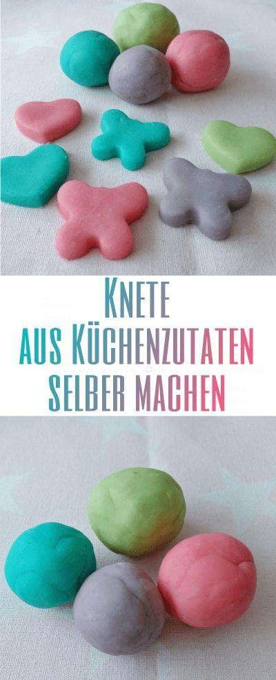 Pâte à modeler de bricolage avec des ingrédients de la cuisine – faites-le vous-même étape par étape   – DIY Kinder: einfache Bastelideen für Kinder und Kleinkinder