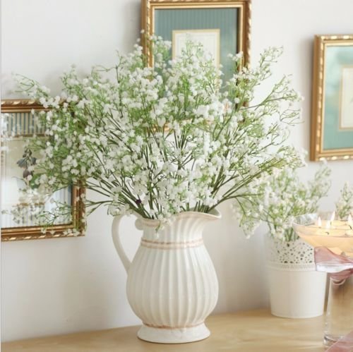 Superb 3 Bunches #artificial #babyu0027s Breath Fake Silk #flower Home Wedding Garden  Decor,