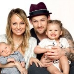 Nicole Richie and Joel Madden with daughter Harlow Winter Kate and son Sparrow James Midnight Madden.