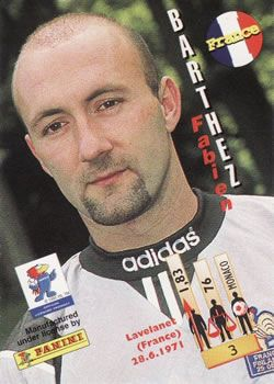1998 Panini World Cup #3 Fabien Barthez Back