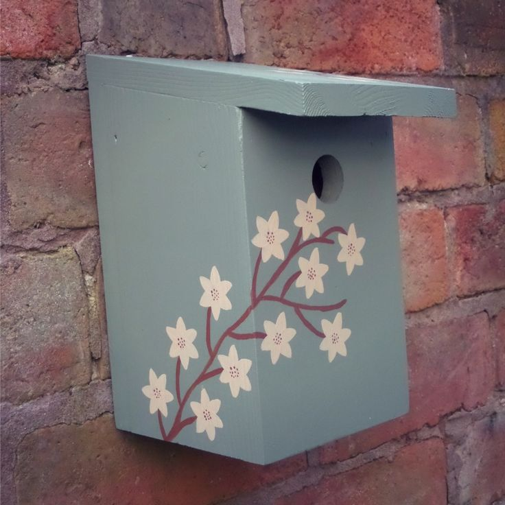 Tit Nesting Box - Willow Green  The Orchard is proud to introduce our new range of Bird Feeders and Nesting Boxes from Brown Bird Creations. (Rather cute colour scheme)