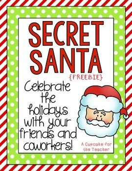 Organize a Secret Santa exchange using this CUTE information sheet!  It's a great way to celebrate the holidays with your friends and coworkers!  I hope you love it!! Enjoy! :)