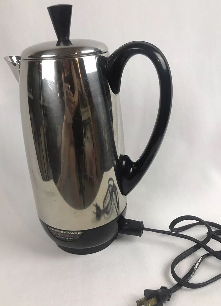 Vintage Farberware Superfast 12 Cups Electric Percolator Coffee Maker Pot Mcm Ebay Percolator Coffee Maker Percolator Coffee Pot