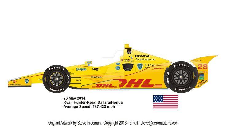2014 Ryan Hunter-Reay Indy 500 Winning Car by sfreeman421