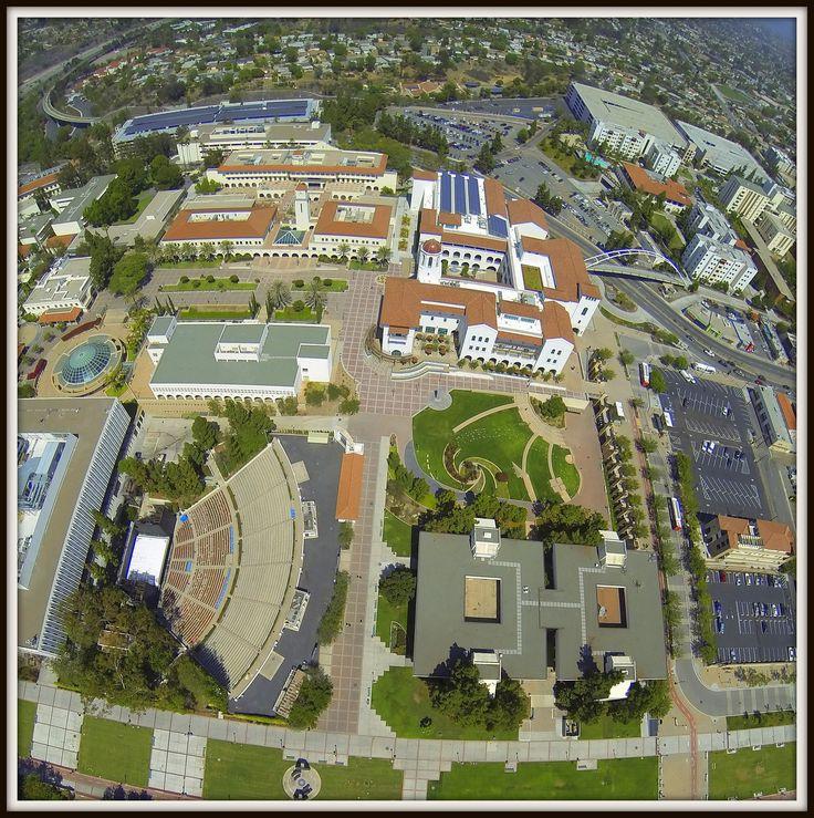 Bird-view of SDSU campus.