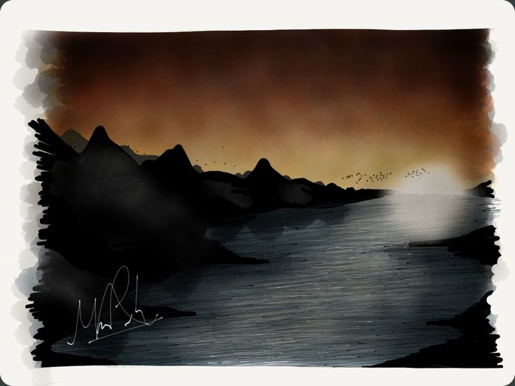 Self imagined landscape Created using the app 'Paper'