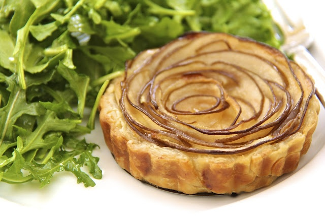 And for the salad course ......... Fontina & Pear Tart w/ Arugula Salad