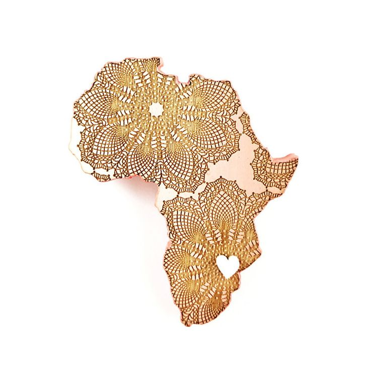 brooch /HEART ♥ OF AFRICA/ coral by LANDI KUHN Functional Art & Design