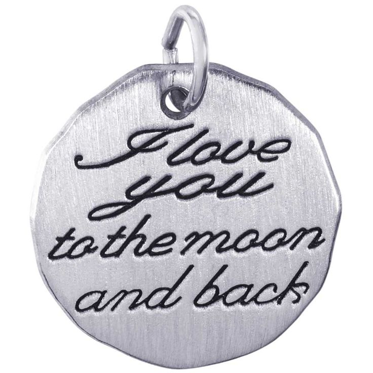 Rembrandt I Love You To The Moon Charm Tag, Sterling Silver