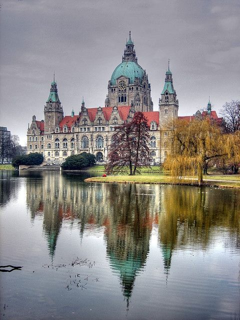 Hannover -Hanover -Hanovre, Germany, Townhall - Neues Rathaus