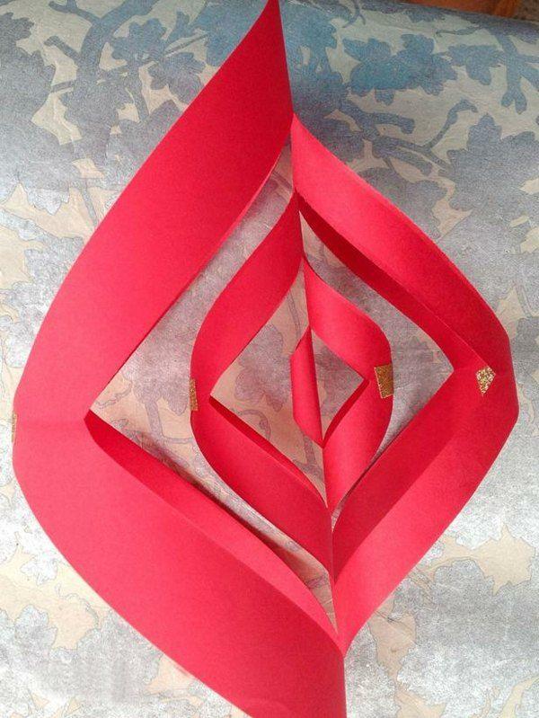 Papierstern rot selber machen falten