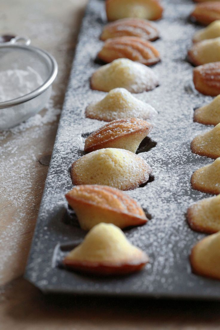 vanilla browned butter madeleines