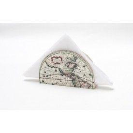 Antique Map Napkin holder,  Napkin Box, Hostess gift