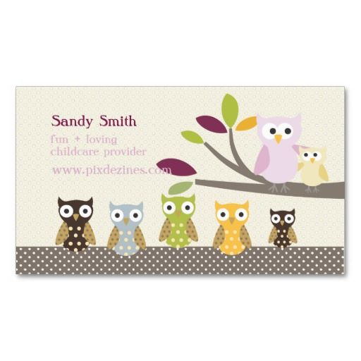 224 best Childcare Business Cards images on Pinterest
