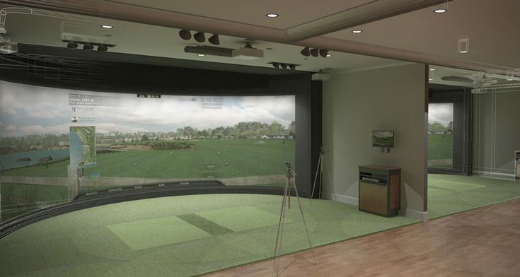 55 best images about golf simulator room design ideas on for Golf simulator room dimensions
