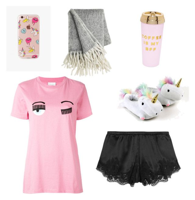 """""""Feelin comy af"""" by hollyjollychic on Polyvore featuring Chiara Ferragni, Dolce&Gabbana, The Casery and ban.do"""