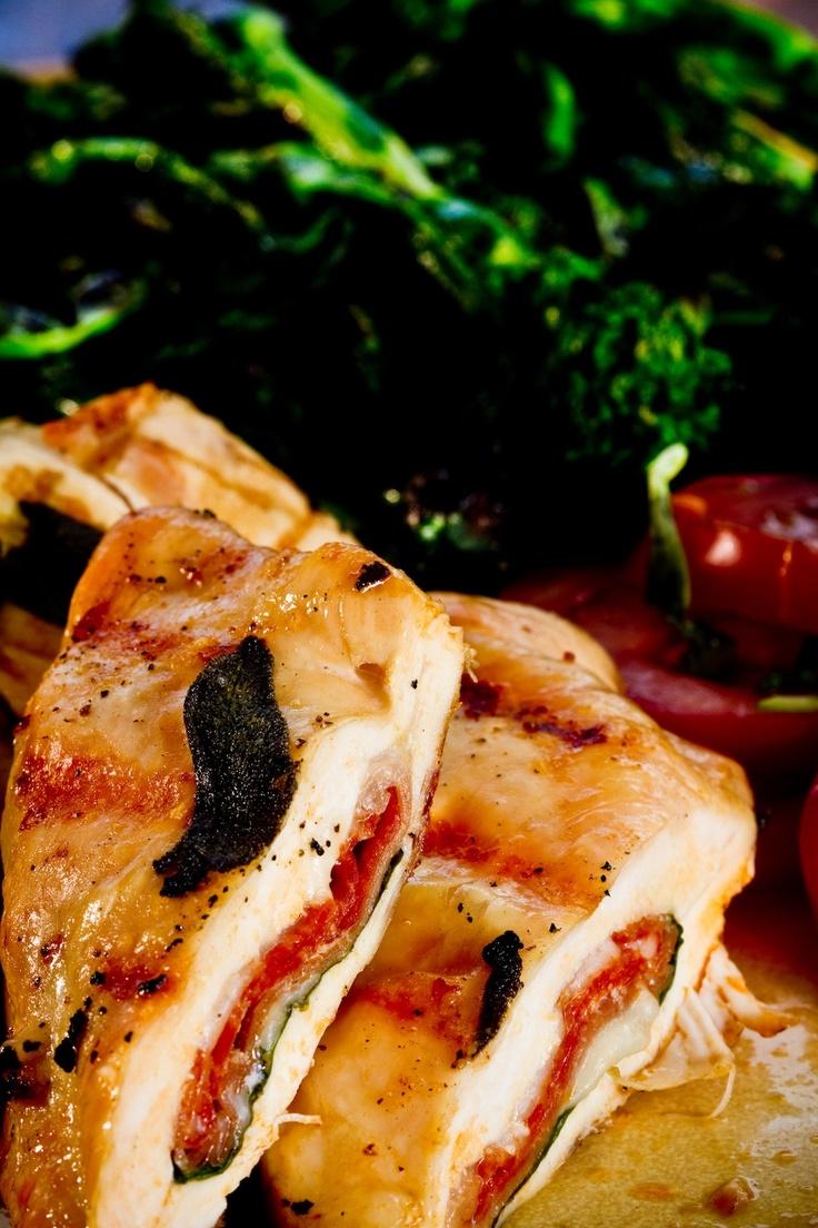 Poitrines de poulet farcies à l'italienne (Calzone)