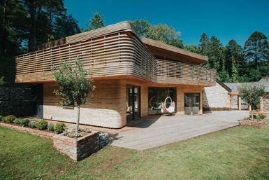 Steam-bent wooden house by Tom Raffield in Cornwall, United Kingdom
