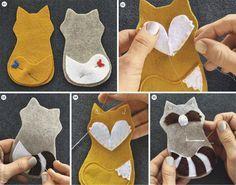 Tutoriel DIY: Réaliser des animaux en feutrine via DaWanda.com                                                                                                                                                                                 Plus