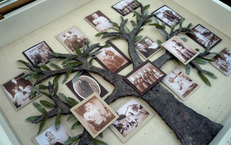 Crafty Sisters: My Family Tree Shadow Box