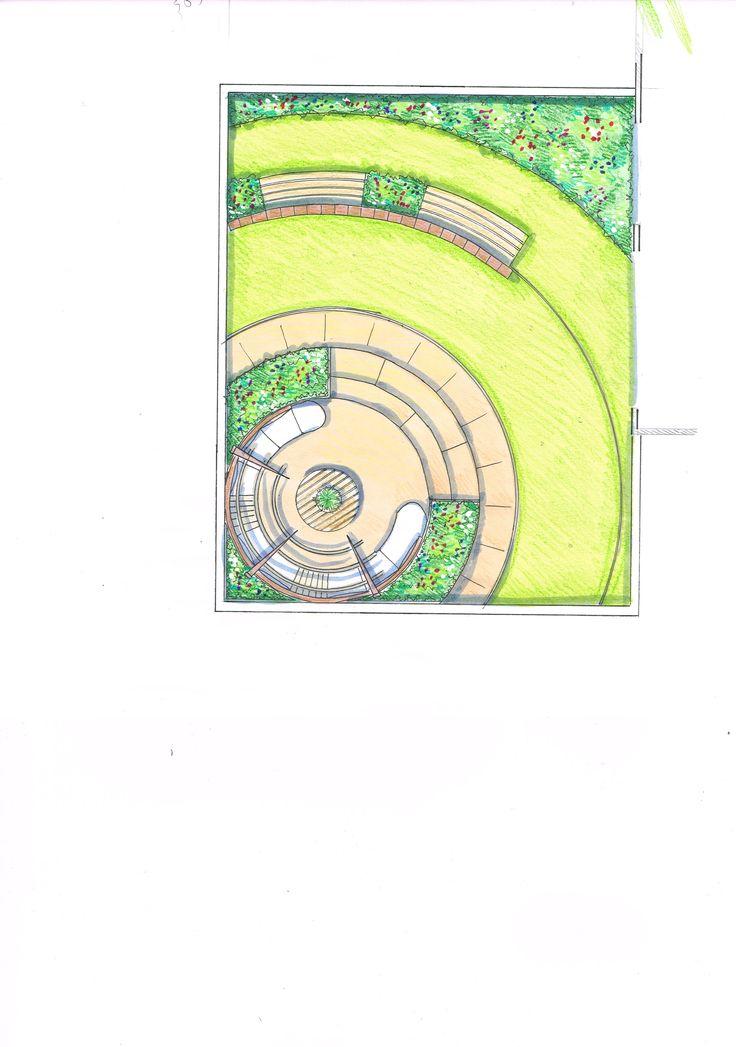 base plan roof terrace garden design idea
