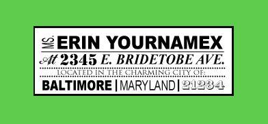 DIY: Custom Return Address Labels | The Budget Savvy Bride