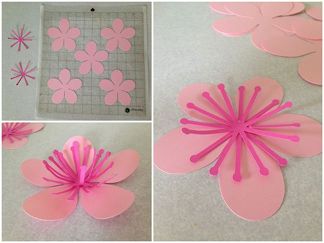 flower party silhouette cameo - Google Search