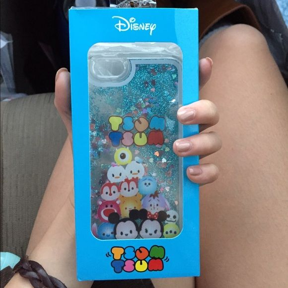 Tsum Tsum iPhone 6 case Brand New with retail packaging // All Tsum Tsum characters // interactive blue glitter shake case Accessories Phone Cases