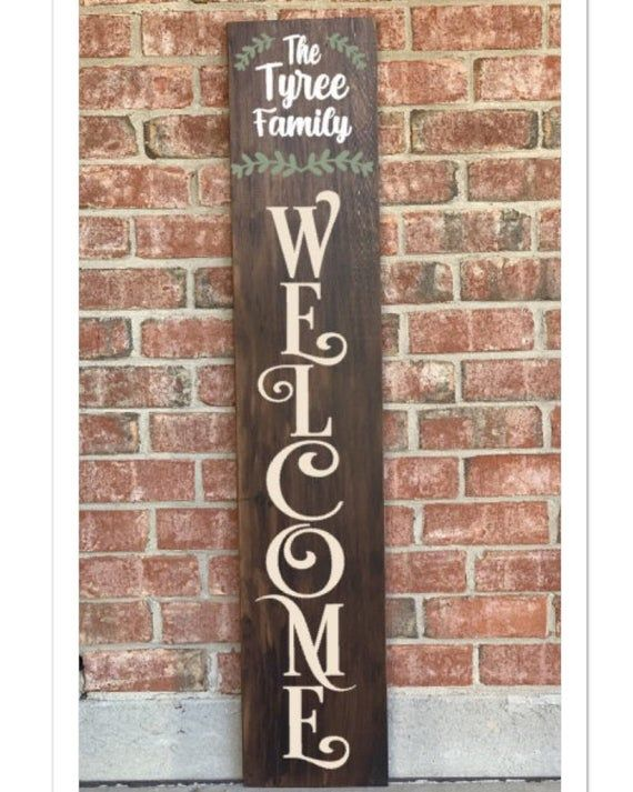 Any color available. WELCOME sign 5 ft tall 3D letters