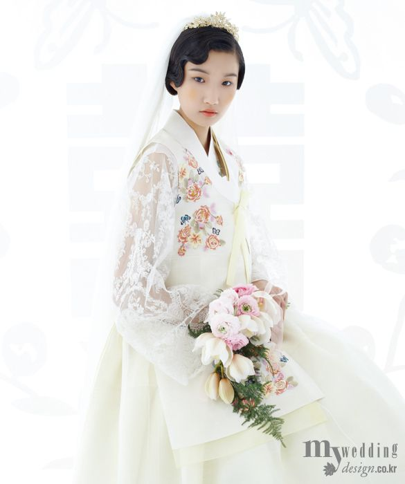 17 best images about korea hanbok on pinterest for Korean wedding dress traditional