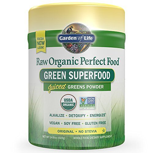 Garden of Life Vegan Green Superfood Powder - Raw Organic Perfect Whole Food Dietary Supplement Original 14.8oz (419g) Powder