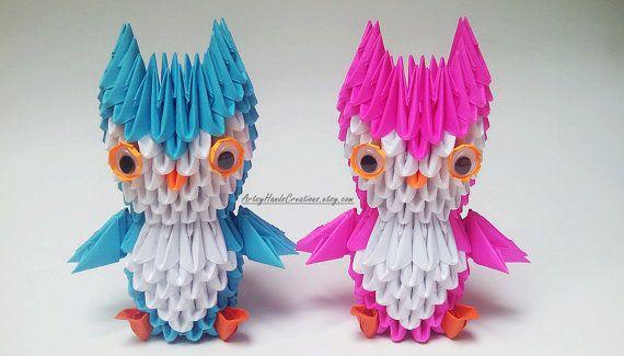 3d Origami Miniature Owl 3d Origami Mini by ArtsyHandsCreations