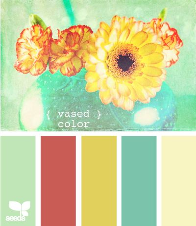 Soothing and soft: Colour, Color Palettes, Color Schemes, Colors, Living Room, Vased Color