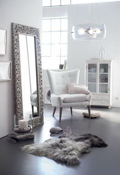Sessel in Retro-Look mit grauem Baumwollbezug. #Sessel #Vintage #Impressionenversand