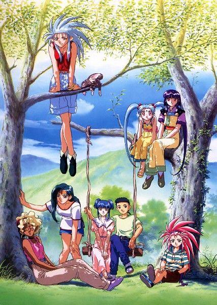 Tags: Anime, Summer, Sisters, Swing, Friends, Tenchi Muyo!, Washu Hakubi