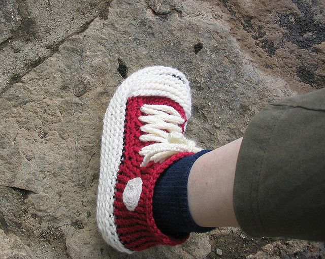 80de9fb437e4 Converse Knitted Slippers Pattern Images - handicraft items from ...
