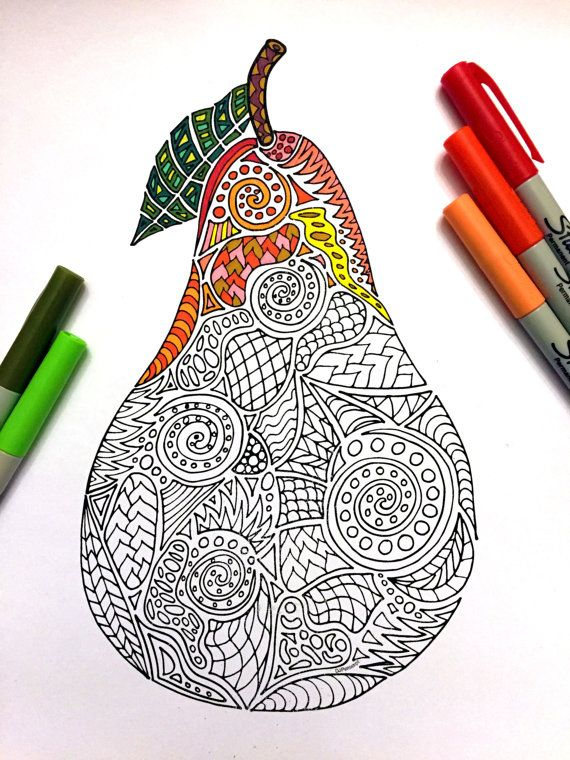 61 best fruits images on Pinterest Adult coloring Coloring