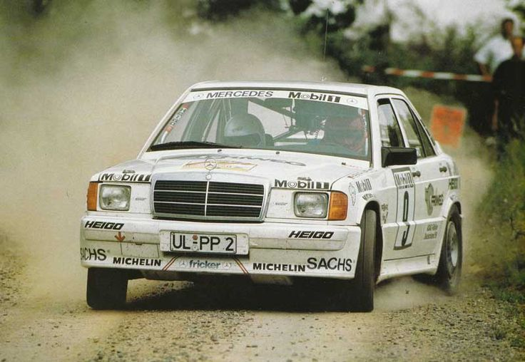 fricker ulm mercedes benz 190 rally car harald demuth deutsche rallye meisterschaft