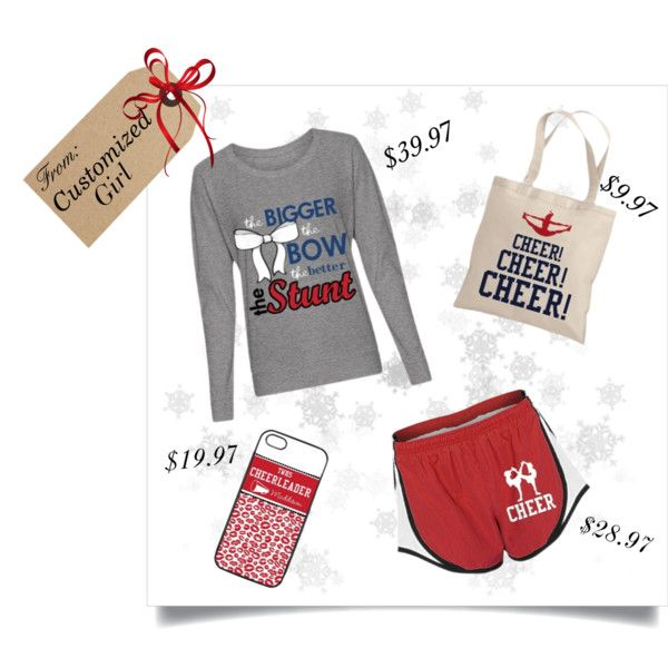 """""""Gift Set For The Cheerleader In Your Life!"""" by customizedgirl on Polyvore #cheer #cheerleading #cheerleader #christmas"""