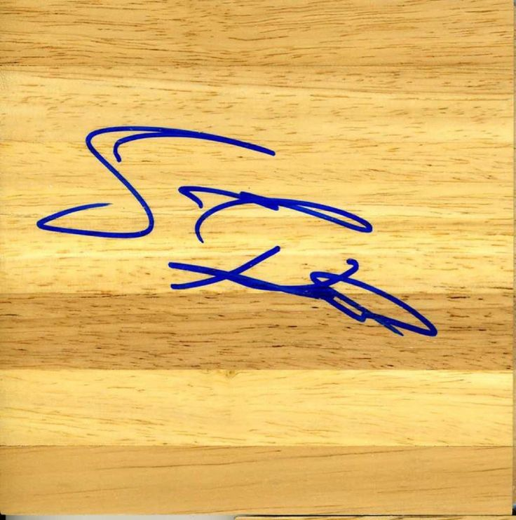 Scott Padgett autograph signed 6 by 6 inch floorboard floor board JAZZ ROCKETS