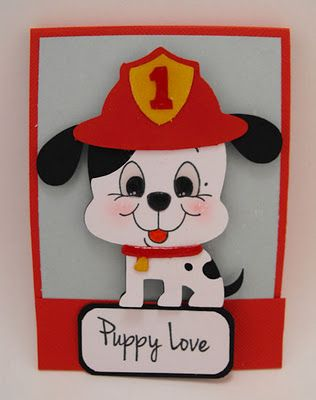 Puppy Love card made with Create a Critter Cricut cartridge