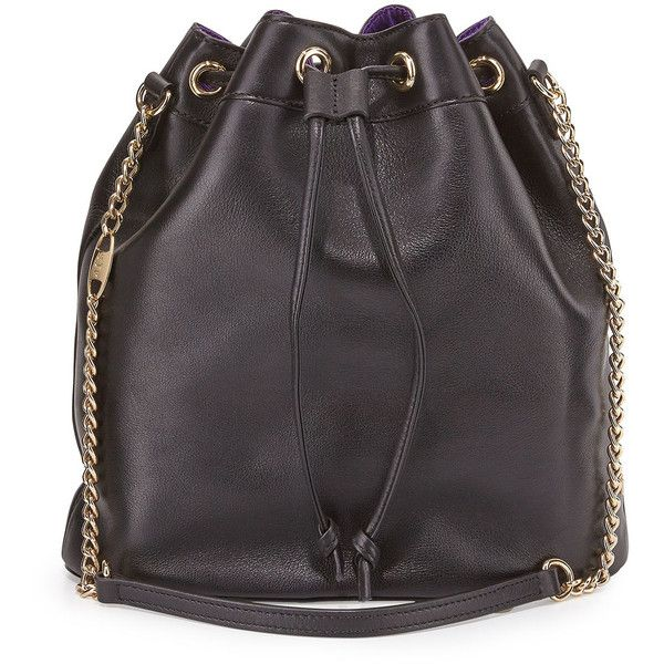 SJP by Sarah Jessica Parker Madison Leather Bucket Bag ($375) ❤ liked on Polyvore