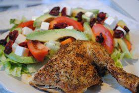 Anne's hyggested: Græsk kylling og grøn salat med avocado+tranebær